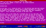 Tommy's Six-Bid Solo DOS The first screen of the game's instructions.