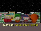 South Park PlayStation Character select screen.
