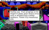 Space Quest III: The Pirates of Pestulon DOS The game reacts to words it doesn't understand
