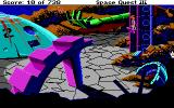 Space Quest III: The Pirates of Pestulon DOS Riding an elevator