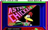 Space Quest III: The Pirates of Pestulon DOS The famed Astro Chicken arcade game - title screen