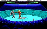 Space Quest III: The Pirates of Pestulon DOS Mini-game: giant mecha fight!..