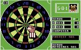 Bully's Sporting Darts Commodore 64 Preparing to throw a dart