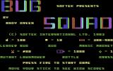 Bug Squad Commodore 64 Title Screen