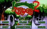 Lemmings 2: The Tribes FM Towns Main menu