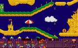 Lemmings 2: The Tribes FM Towns Many lemmings died that day on the beach