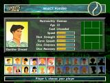 Pete Sampras Tennis 97 DOS Players selection