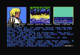 Dragonworld Commodore 64 The game leaves you about to sail off to the rescue.  I have heard this game rated as not being hard--but even so, it is hard enough to have cheat hints published on the internet.