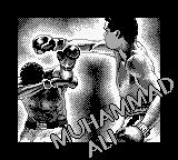 Muhammad Ali Heavyweight Boxing Game Boy Title screen.