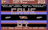 Caves of 64 Commodore 64 Title Screen