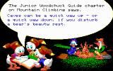 Disney's Duck Tales: The Quest for Gold DOS A tip before starting the level from the Junior Woodchucks guide