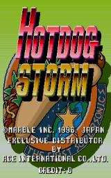 Hotdog Storm Arcade Title screen