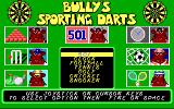 Bully's Sporting Darts DOS Title screen