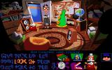 Maniac Mansion: Day of the Tentacle DOS Bernard pays a visit to the nice Green Tentacle