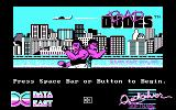 Bad Dudes DOS Title screen (CGA)