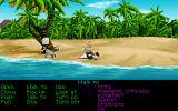 The Secret of Monkey Island DOS Act III takes place on Monkey Island. It opens with this... interesting situation