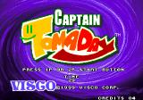 Captain Tomaday Arcade Title screen