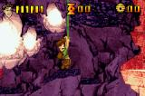 Pitfall: The Lost Expedition Game Boy Advance Swinging on a vine