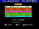 Classic Punter ZX Spectrum Select your horse