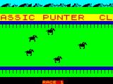 Classic Punter ZX Spectrum The race is being run