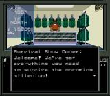 Shin Megami Tensei SNES Better stock up some armor at the Survival Shop. Never know when demons might pop-up and claw you in the back.