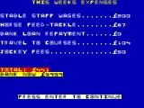 Classic Trainer ZX Spectrum Your weekly expenses