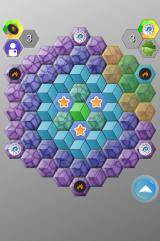 Hexxagon HD Android Star Collecting mode: you're challenged to occupy as many of the star hexes as you can