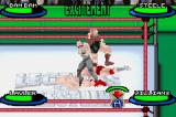 Legends of Wrestling II Game Boy Advance Stomping on the guy.