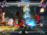 BlazBlue: Calamity Trigger Windows Performing a special attack.