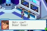Mega Man Battle Network 4: Blue Moon Game Boy Advance Discovered something.