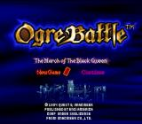Ogre Battle SNES Title Screen