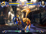 BlazBlue: Calamity Trigger Windows Jin is hit by Taokaka's attack