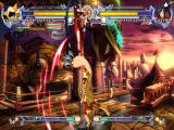BlazBlue: Calamity Trigger Windows The hit is avoided through a jump.