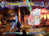 BlazBlue: Calamity Trigger Windows V-13's attack connects.