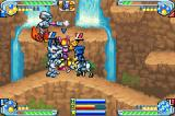 Medabots AX: Rokusho Ver. Game Boy Advance Seashore. They are all rubbing each other.