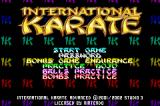 International Karate Advanced Game Boy Advance Main menu.