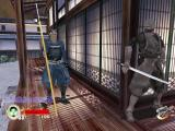 Tenchu: Return from Darkness Xbox In a new single player stage, Samurai Mansion, Rikimaru looks around a corner waiting for an oppurtunity to sneak past the spear-carrying samurai.