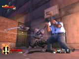 Tenchu: Return from Darkness Xbox Rikimaru has been spotted and is fighitng a police officer in Through The Portal. The officer has deflected the swing of Rikimaru's sword with his baton.