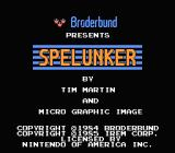 Spelunker NES Title screen