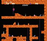 Spelunker NES Climbing a rope