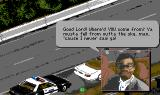 Police Quest 3: The Kindred Amiga Reckless driver is trying to excuse himself.