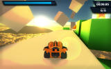 Jet Car Stunts Windows The collector game mode has an orange car. You need to find a way to to the star on the right.