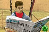 Harry Potter and the Order of the Phoenix Game Boy Advance Harry reading the newspaper