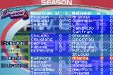 High Heat Major League Baseball 2003 Game Boy Advance The teams competing
