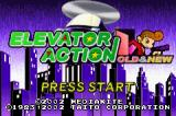 Elevator Action Old & New Game Boy Advance Title Screen