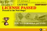 GT Advance 3: Pro Concept Racing Game Boy Advance License passed