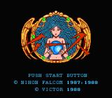 Ys: The Vanished Omens NES Title screen
