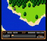Ys: The Vanished Omens NES On a sea shore