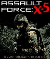 Assault Force: X-5 J2ME Title screen