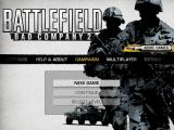 Battlefield: Bad Company 2 iPad Main menu